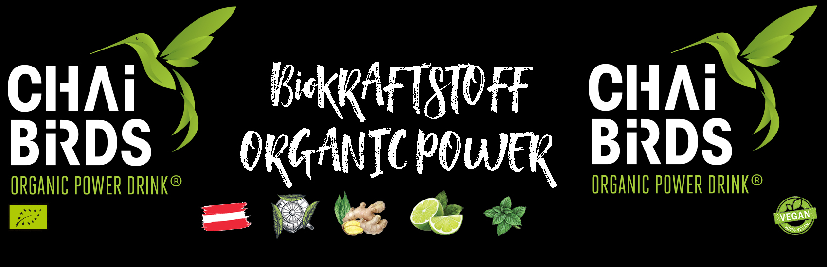 BiO KRAFTSTOFF | ORGANIC POWER DRINK | CHAi BiRDS